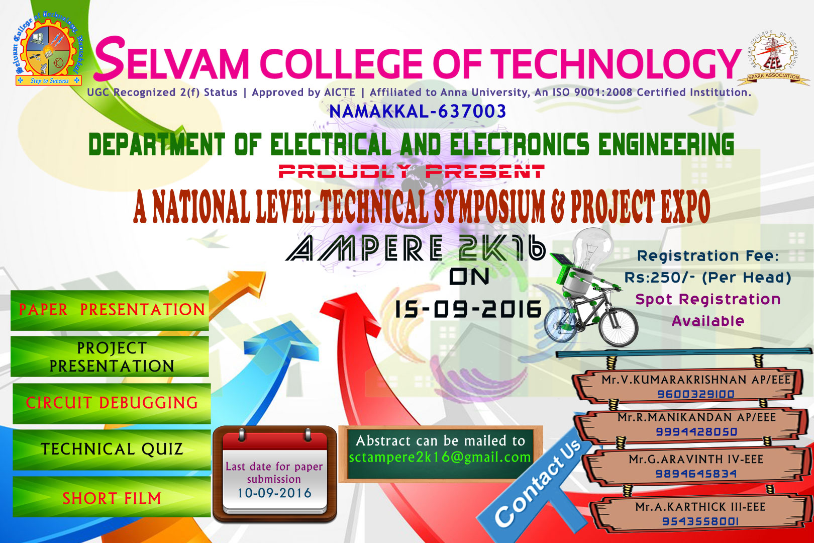 National Level Technical Symposium & Project Expo - AMPERE