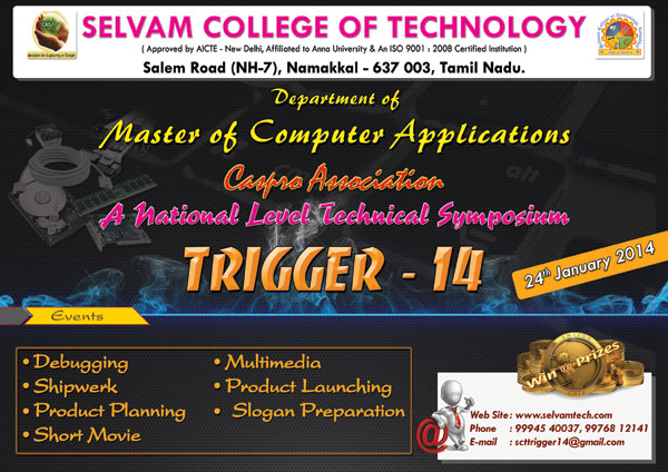 National Level Technical Meet - TRIGGER14 on 24th January 2014. 8