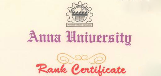 Rank Holders - Anna University Chennai April/May 2014 Examinations. 1