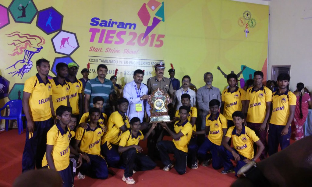 TIES 2015 Athletics Men Over all Championship Third Place