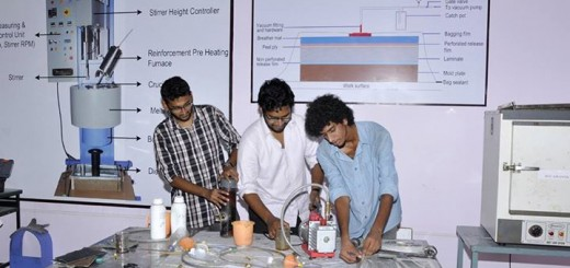 Students from NIT Trichy done their projects at Selvam Composite Materials Research Lab.