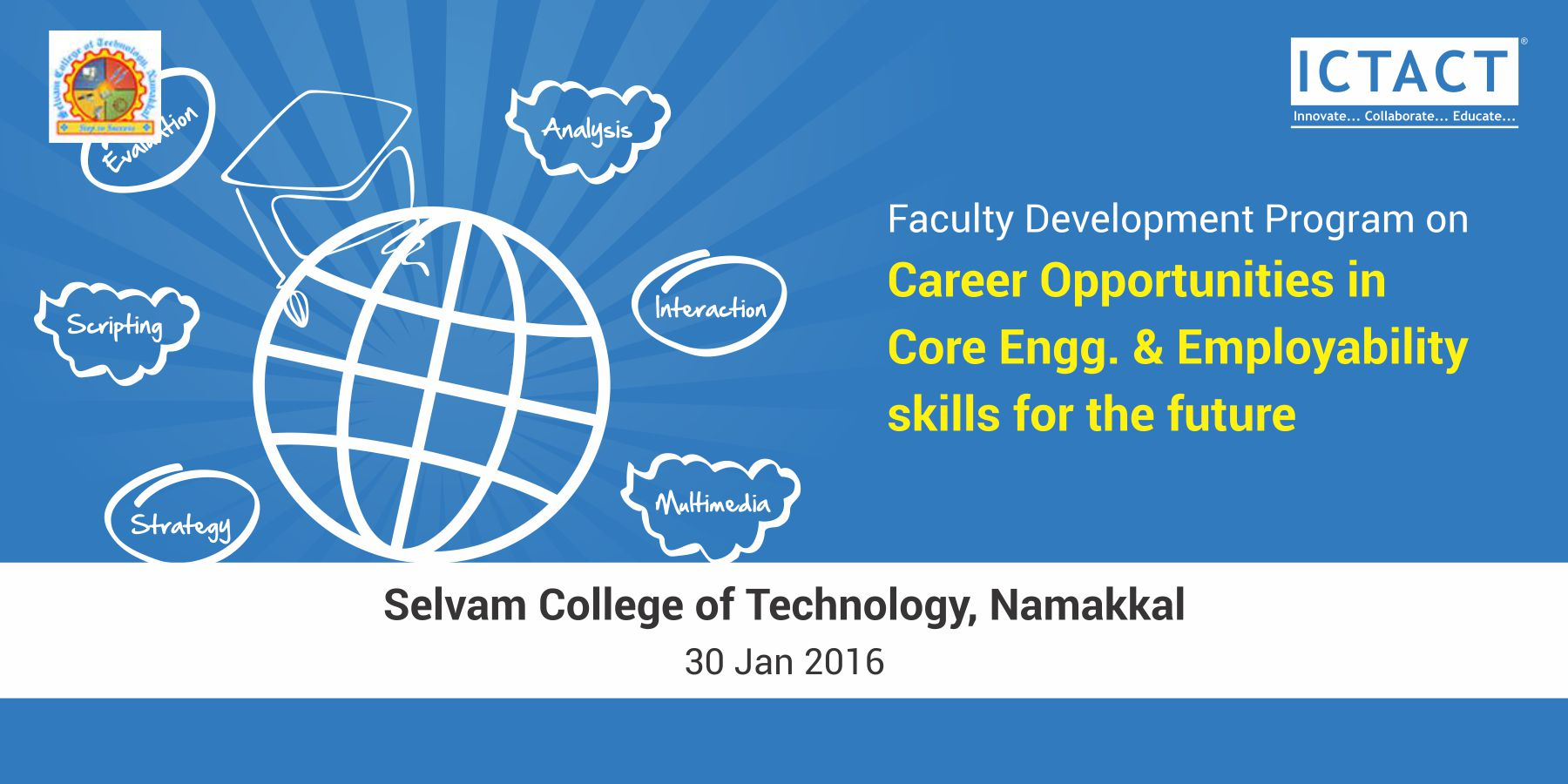 power seminar on career opportunities in core engineering in core engineering employability skills for the future on 30 01 2016 in the mechanical seminar hall at 09 30 am for ii iii year students
