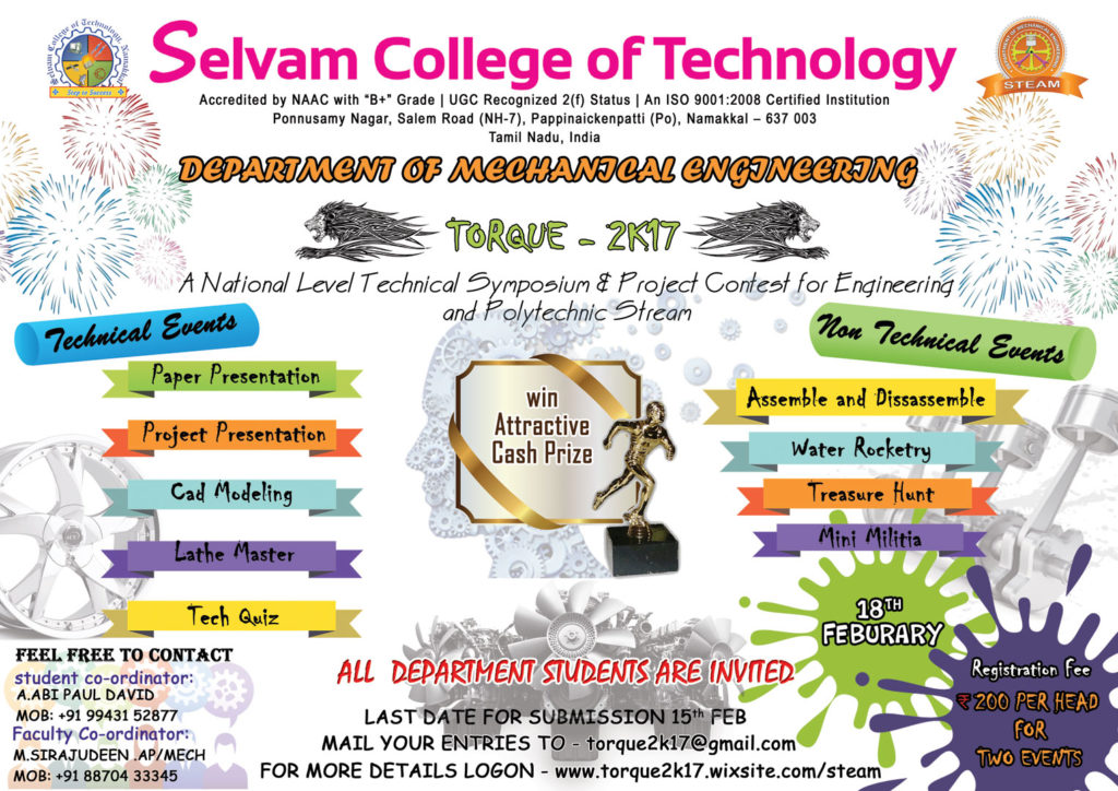 National Level Technical Symposium & Project Contest. 4