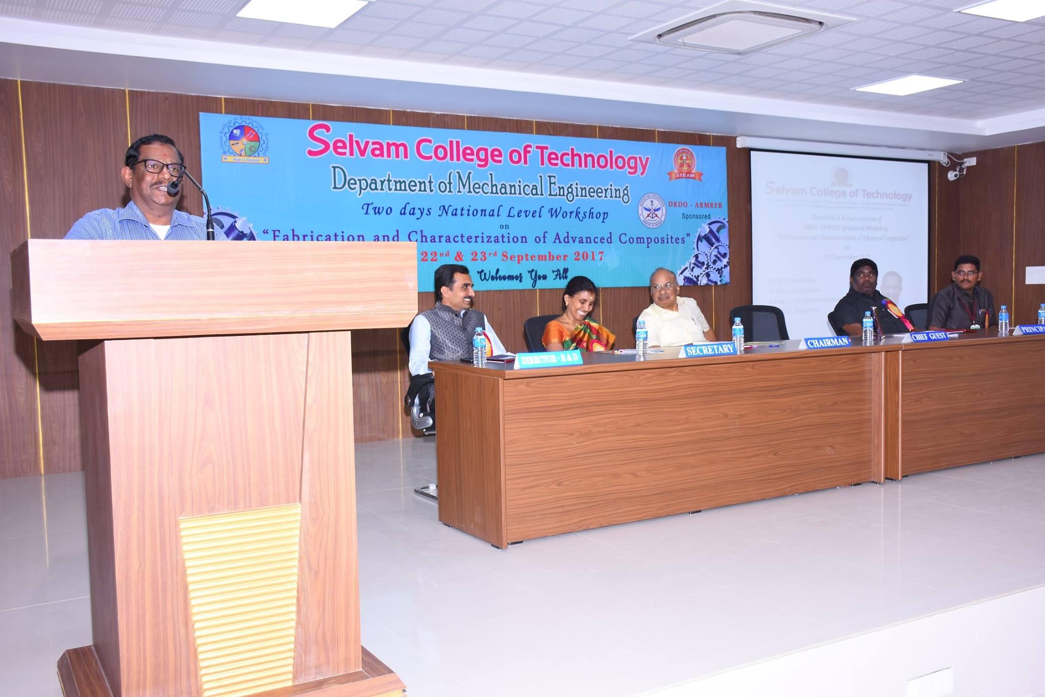 DRDO – ARB Funded National Level workshop. 1
