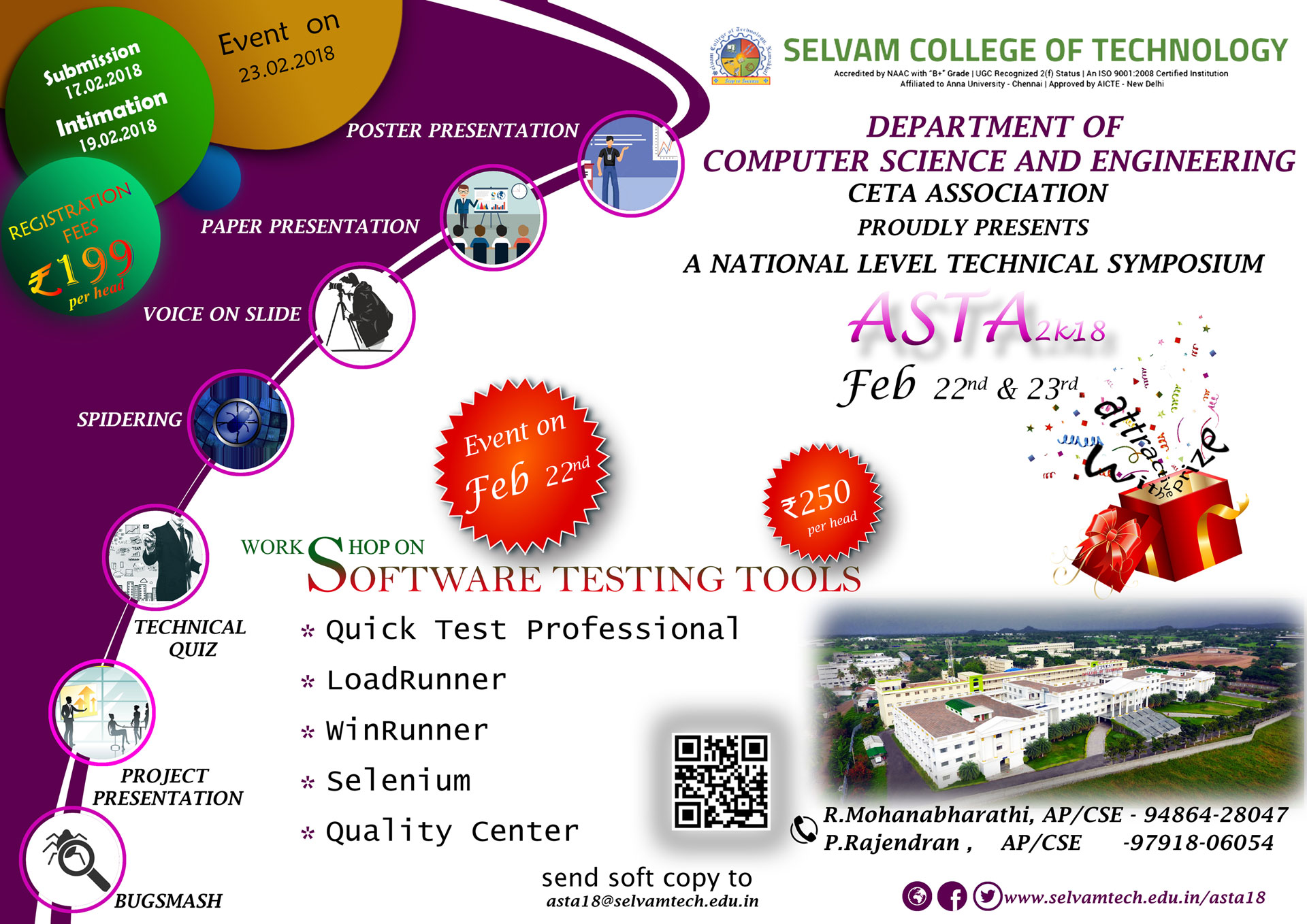 National Level Technical Symposium ASTA 2K18 - Selvam