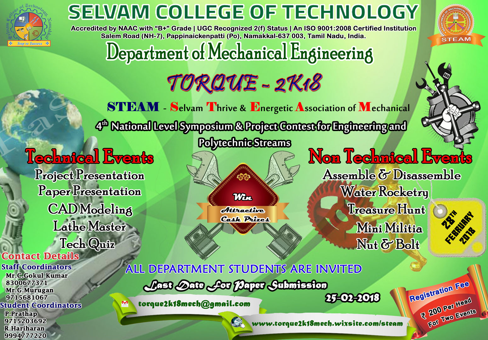 National Level Technical Symposium & Project Contest. 3