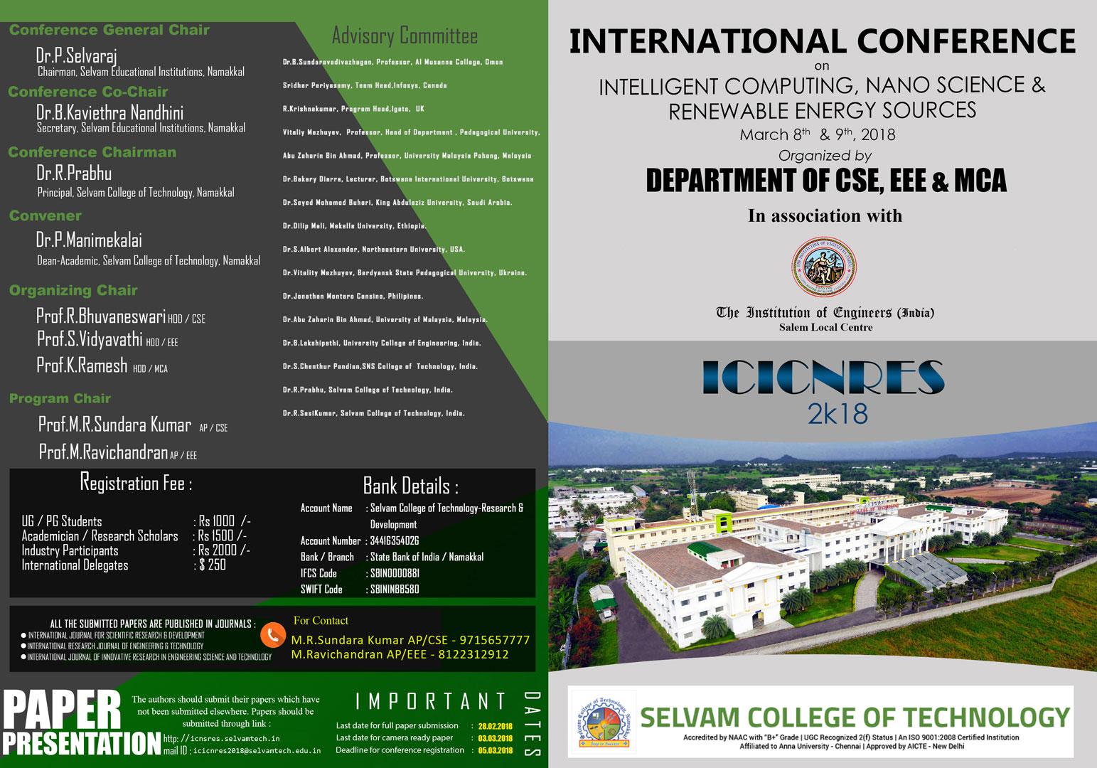 International Conference on - ICNSRES. 1