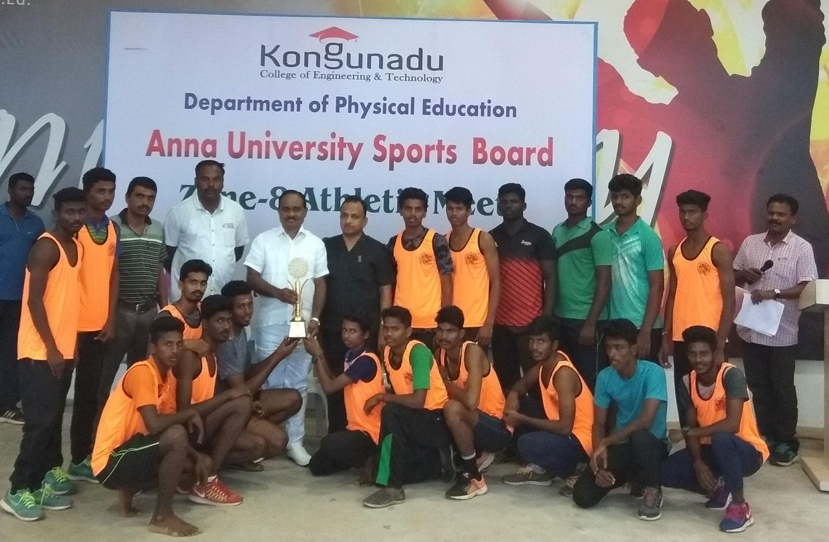 Anna University Zone-8 Athletics Men Winners held at Kongu Nadu College of Engineering & Technology 1
