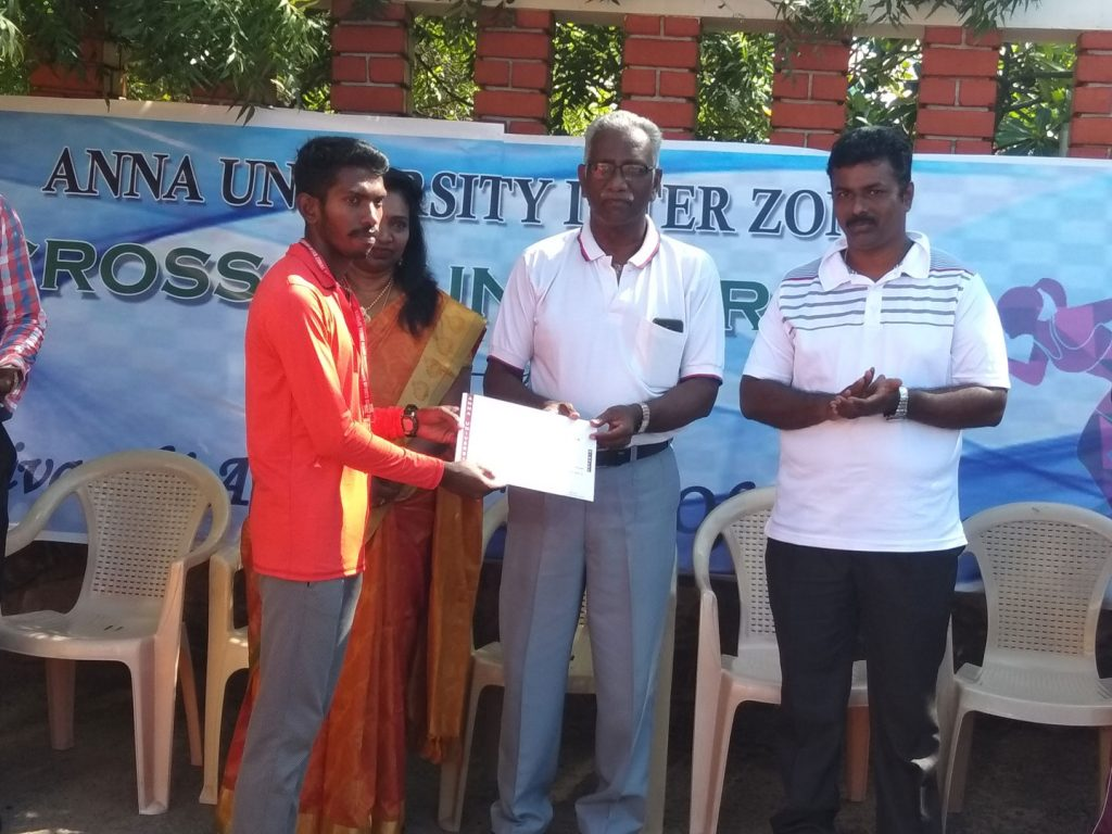 R.Ranjith Kumar Receiving Anna University Cross Country Gold Medal at Dr Sivanthi Adithanar College, Trichendur 7