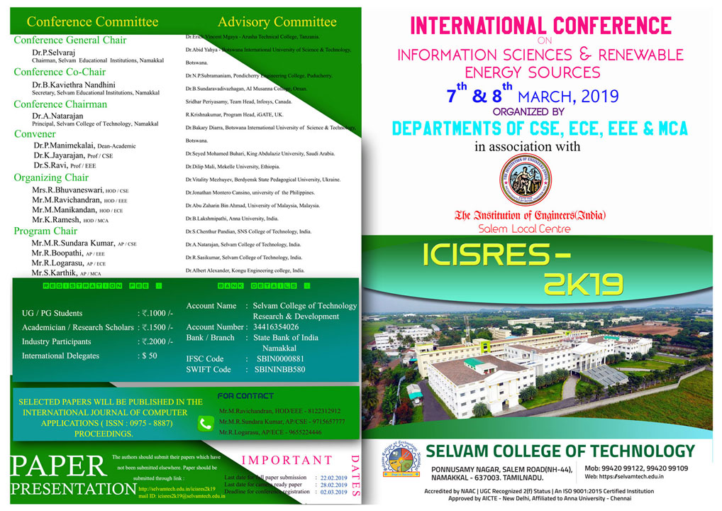 International Conference: Information Science and Renewable Energy Sources. 1