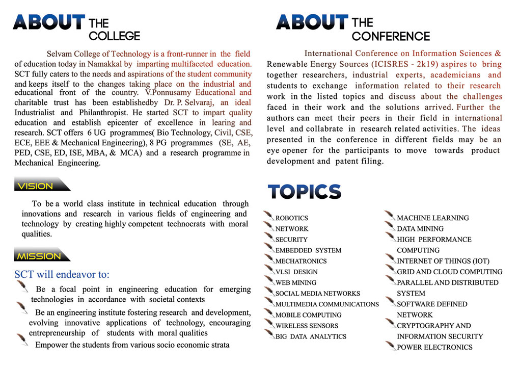 International Conference: Information Science and Renewable Energy Sources. 2