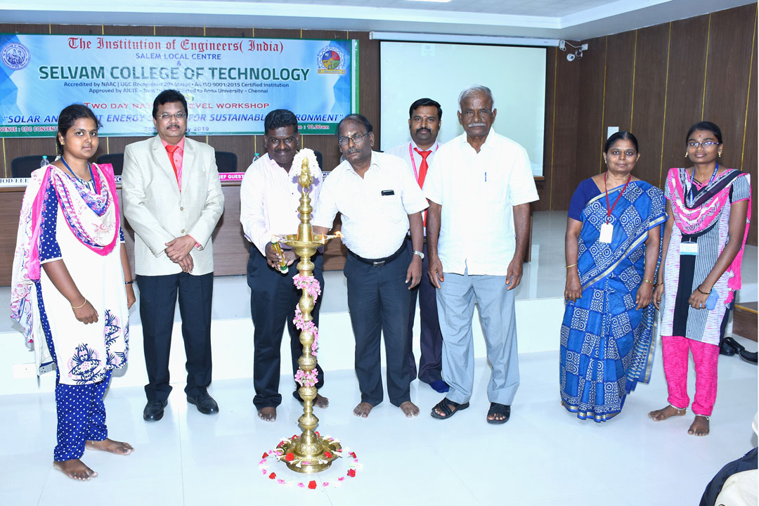 Two Days National Level Workshop on Solar and Smart Energy System for Sustainable Environment. 1