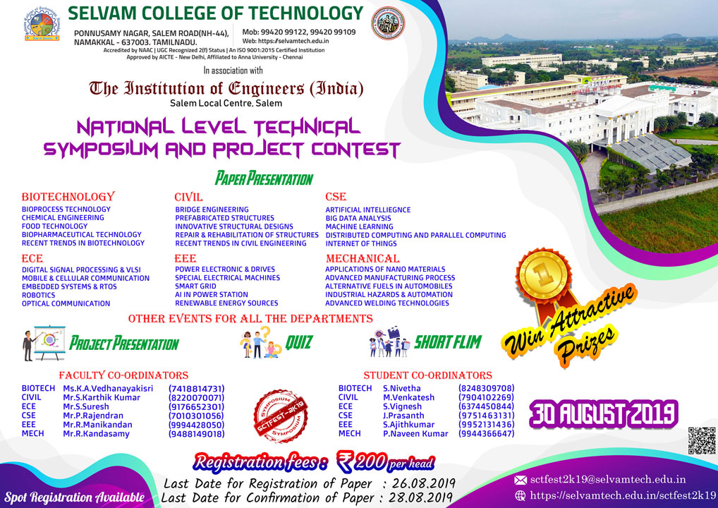 National Level Technical Symposium and Project Contest. 1