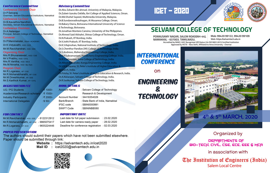 International Conference on Engineering and Technology. 2